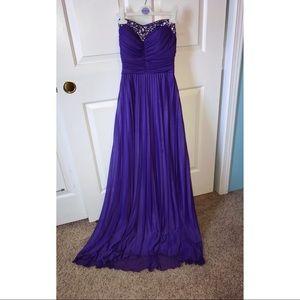 Long Purple Prom Dress